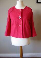 Marks and Spencer Linen Short Jacket Coral/Pink Size 10