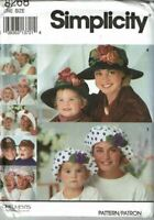 Simplicity Sewing Pattern 8268 Mothers and Daughters Hats