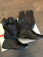 Prada Girl Black Patent Leather Bow Boots Shoes Size 26