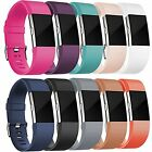10 Pack Replacement Band For Fitbit Charge 2 Soft Silicone Wristband Small