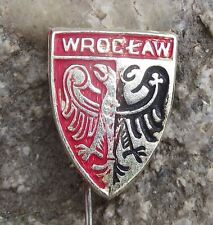Wroclaw Polish City Poland Heraldic Crest Shield Eagle Coat of Arms Pin Badge