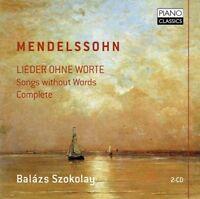 BALAZS SZOKOLAY - LIEDER OHNE WORTE 2 CD NEW+ MENDELSSOHN BARTHOLDY,FELIX