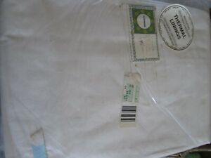 """Thermal Lining Curtains White 64"""" W x 51"""" L 163cm x 130cm insulating"""