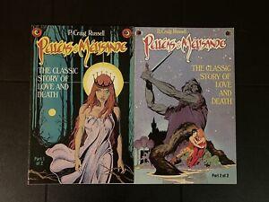 P. Craig Russell's Pelleas & Melisande #1 & 2 (Night Music #4, 5) Eclipse Comics
