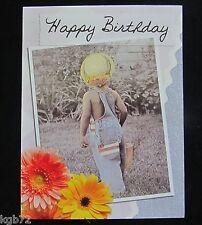 Leanin Tree Birthday Greeting Card Flowers Kid MultiColor Notelet Series N113