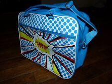 Grand sac en bandoulière bleu électrique en PVC - Neuf