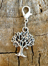 """Tree of Life and Love Clip On Charm or Pendant in Silver 1"""""""