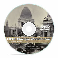 Chicago World's Fair 1893, Columbian Exposition, 50+ Vintage Books Video DVD V40