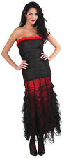 Vampiress Ruched Rose Womens Adult Witch Black Costume0 Top-Std