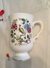 Rare Crown Staffordshire Multi Colored Peacock Mug Fine Bone China England