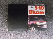1992 Chevy S10 Blazer 4WD Owners Manual SUV LS LT Trailblazer Xtreme Sport ZR2