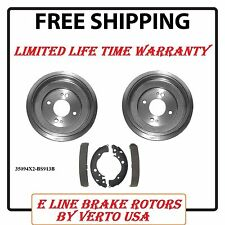 Brake Drums & Shoes Complete Set  For Honda  Fit 2009-2013,  Insight 2010-2014