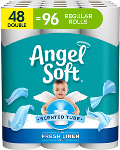 Angel Soft Toilet Paper with Fresh Linen Scent, 48 Double Rolls= 96 Regular Roll