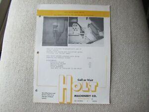Caterpillar D9 D8 D7 D6 tractor Holt Machinery grass seeder spec sheet brochure