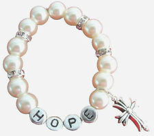Personalized Baptism Christian Bracelet Cross Bracelet Name Bracelet