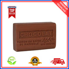 Savon De Marseille Chocolat Au Beurre De Karité Pure Bio 100% Naturel De 125g