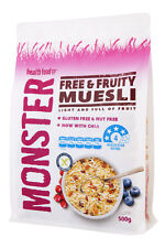 Free & Fruity -6 x 500g - Gluten Free Muesli - Free Shipping Orders $25+
