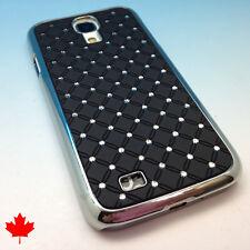 Samsung Galaxy S4 Diamond Crystal Case Back Cover in Black i9500 i337