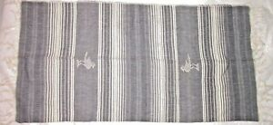 Vintage Hand Loomed Woven Cotton Runner with Fringe - SW Theme - Birds