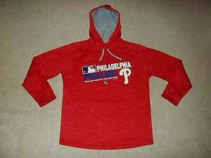 Majestic Therma Base Authentic Collection Philadelphia Phillies Red Large Hoodie
