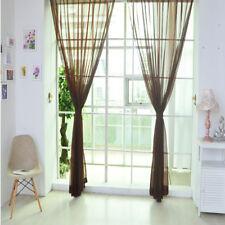 1/2 PCS Valances Tulle Voile Door Window Curtain Drape Panel Sheer Scarf Divider