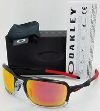 Oakley Gafas para sol Marco de Tinta Negra OO9266-10 Triggerman con Lente Rubí Iridium