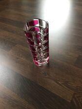 Vintage Vase Bleikristall Dreieckig gemarkt  France 60er 70er Jahre