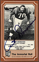 Art Donovan Autographed 1974 Fleer Immortal Roll Football Card #25