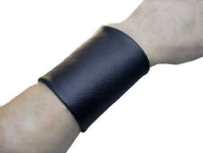 Genuine leather Basic 3 inch wide cuff Wrist band Wristband Gauntlet Unisex Band