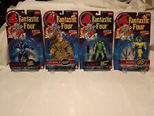 Vintage Lot of 4 Marvel Toy Biz Action Figures 1994 Black Bolt, Thing, Dr. Doom!