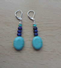 Lapis Lazuli Drop/Dangle Not Enhanced Fine Earrings