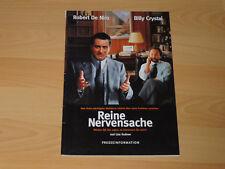 REINE NERVENSACHE - Presseheft ´99 - ROBERT DE NIRO Billy Crystal