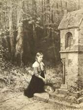Ernest Carl Forberg after H. Salentin signed original etching; 1879