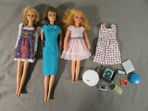Lot of 3 Vintage Mattel 1966 Japan & 1969 Bendable Leg Dolls