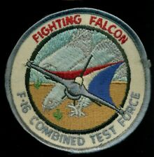 USAF F-16 Combined Test Force Fighting Falcon Edwards Patch OS-2