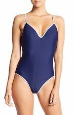 Sam Edelman Metallic Trim One-Piece Swimsuit!! Nwt!! Sz. M Msrp $120.00
