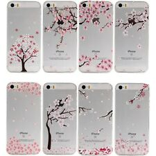 Transparent Flower Pattern TPU Case for Apple iPhone SE iPhone 5 5S Back Cover