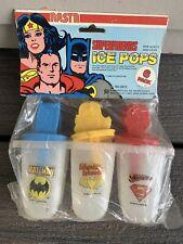 Vtg 1980 Nasta SUPERFRIENDS Ice Pops SUPER FRIENDS NOS Batman SUPERMAN