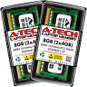 A-Tech 8GB 2 x 4GB PC3-10600 Laptop SODIMM DDR3 1333 MHz 204pin Memory RAM 8G 4G