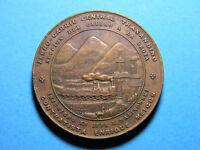 1870 Ferro Carril Railway medal (0685)  BY C. E. Bryant, Lima