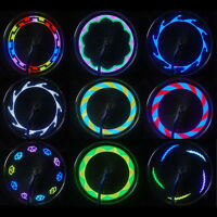 14 LED Bike Bicycle Cycling Wheel Tire Wire Tyre LED Lamp Spoke Light 30 Changes