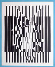 Victor VASARELY IX Offset Originale 1973 Op Art Optique Cinétique 44ans