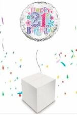 21st Birthday Helium Inflated Balloon in a Box. Party Celebration Female
