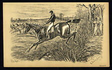 JIM DANDY & CHIMNEY SWEEP 1883 Finch Mason - Horses LITHOGRAPH