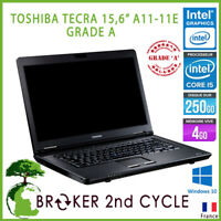 "PC PORTABLE TOSHIBA TECRA A11-11E I5-M430 2,27Ghz 4GB RAM 250GO HDD 15"" WIN10 GR"