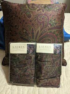 RARE Ralph Lauren Bohemian Full/Queen Comforter Set Burgundy  4 pieces new