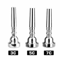 Silver Plated Eastar Bb Trumpet Mouthpiece Size 3C 5C 7C Professional Copper