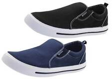 Ladies Slip On Loafers Canvas Plimsoll Pumps Skate UK Comfy Casual Deck Shoes UK