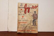 "VINTAGE HOWARD MFG. CO. THE NEW SENSATION ""JY-RO"" TOY IN UNOPENED BAG"