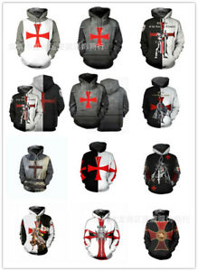 Knight Templar Series The Same Men's Sweater 3D Printing Casual Cosplay Anime